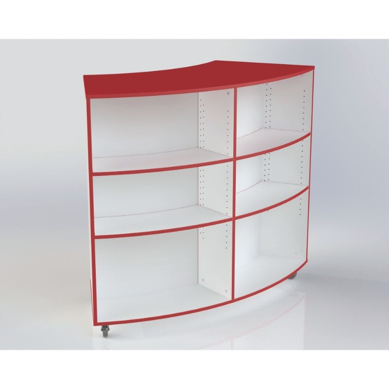 Wendover MFC Double Sided Mobile Radius Bookcase