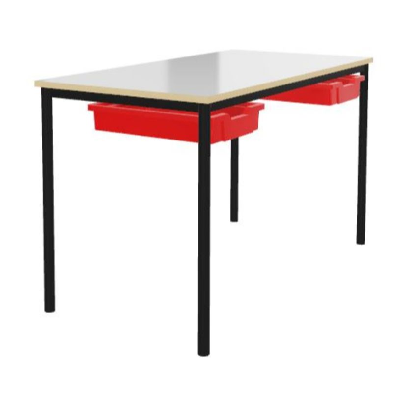 Whiteboard Top Rectangular Welded Frame Tray Tables