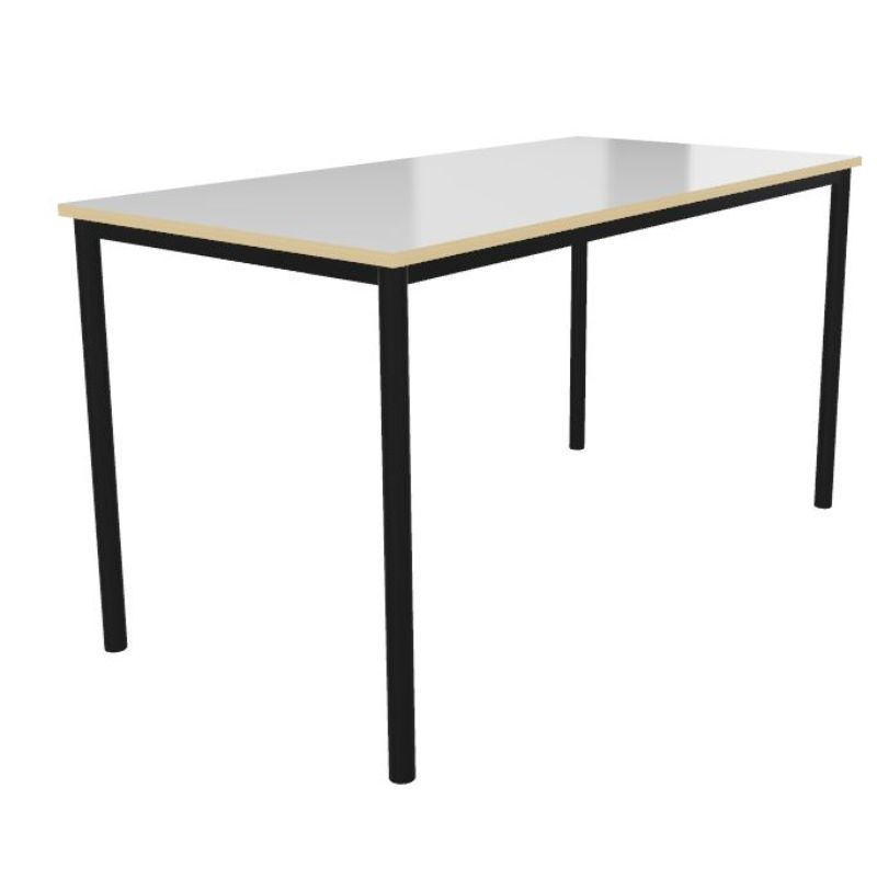 Whiteboard Top Rectangular Welded Frame Classroom Tables