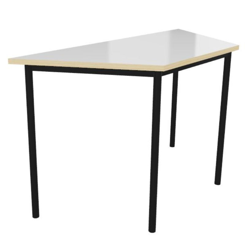 Whiteboard Top Trapezoidal Welded Frame Classroom Tables