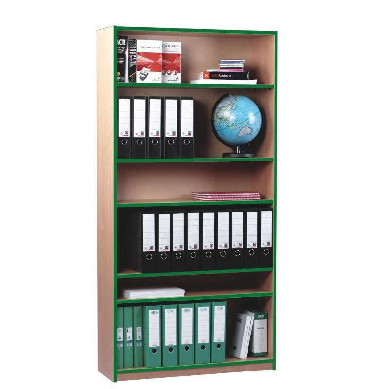 Bookcase High Coloured Edge Bookcase High