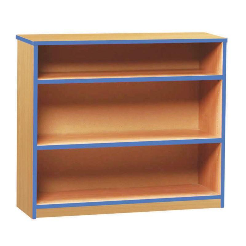 Bookcase Low Coloured Edge Bookcase Low