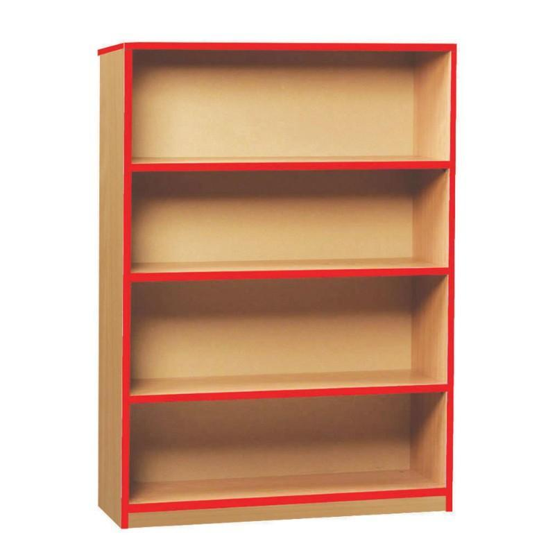 Bookcase Medium Coloured Edge Bookcase Medium