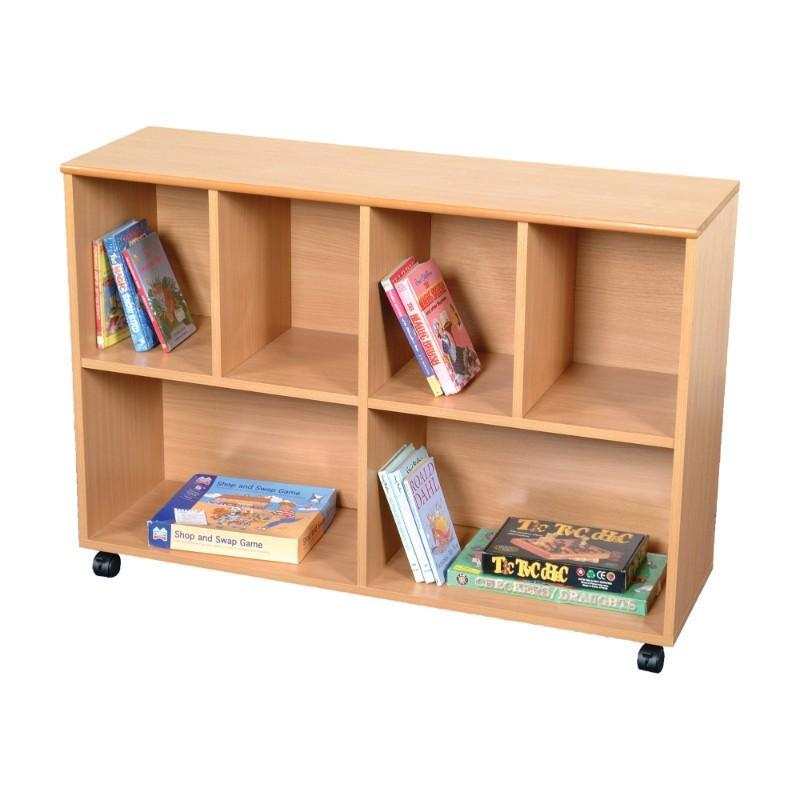 Bookcase Mobile Large Straight Unit
