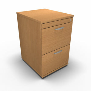 Cabinet 2 Drawer / Beech Synergy Filing Cabinets
