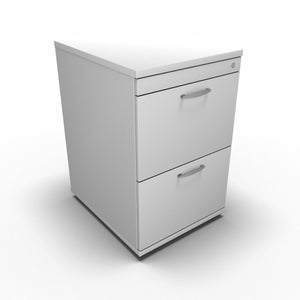 Cabinet 2 Drawer / White Synergy Filing Cabinets