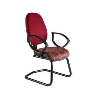 Cantilever chair Fixed Arms / Standard / Black Marlow High Back Cantilever Chair Fixed Arms / Standard / Black