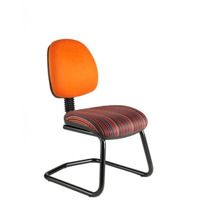 Cantilever chair No Arms / Standard / Black Abingdon Medium Back Cantilever Chair No Arms / Standard / Black