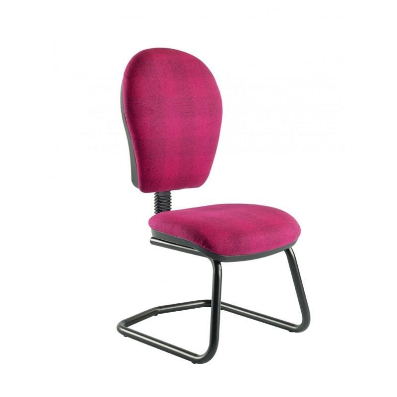 Cantilever chair No Arms / Standard / Black Helix Round Back Cantilever Chair No Arms / Standard / Black