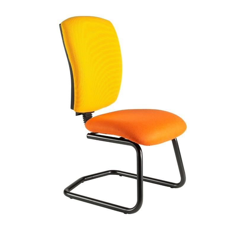 Cantilever chair No Arms / Standard / Black Hurley Squared Back Cantilever Chair No Arms / Standard / Black