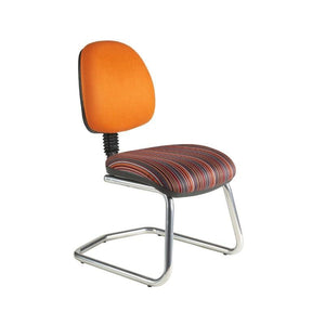 Cantilever chair No Arms / Standard / Chrome Abingdon Medium Back Cantilever Chair No Arms / Standard / Chrome