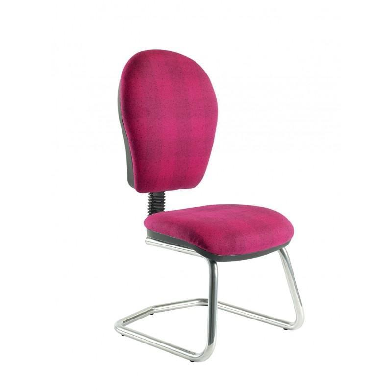 Helix Round Back Cantilever Chair