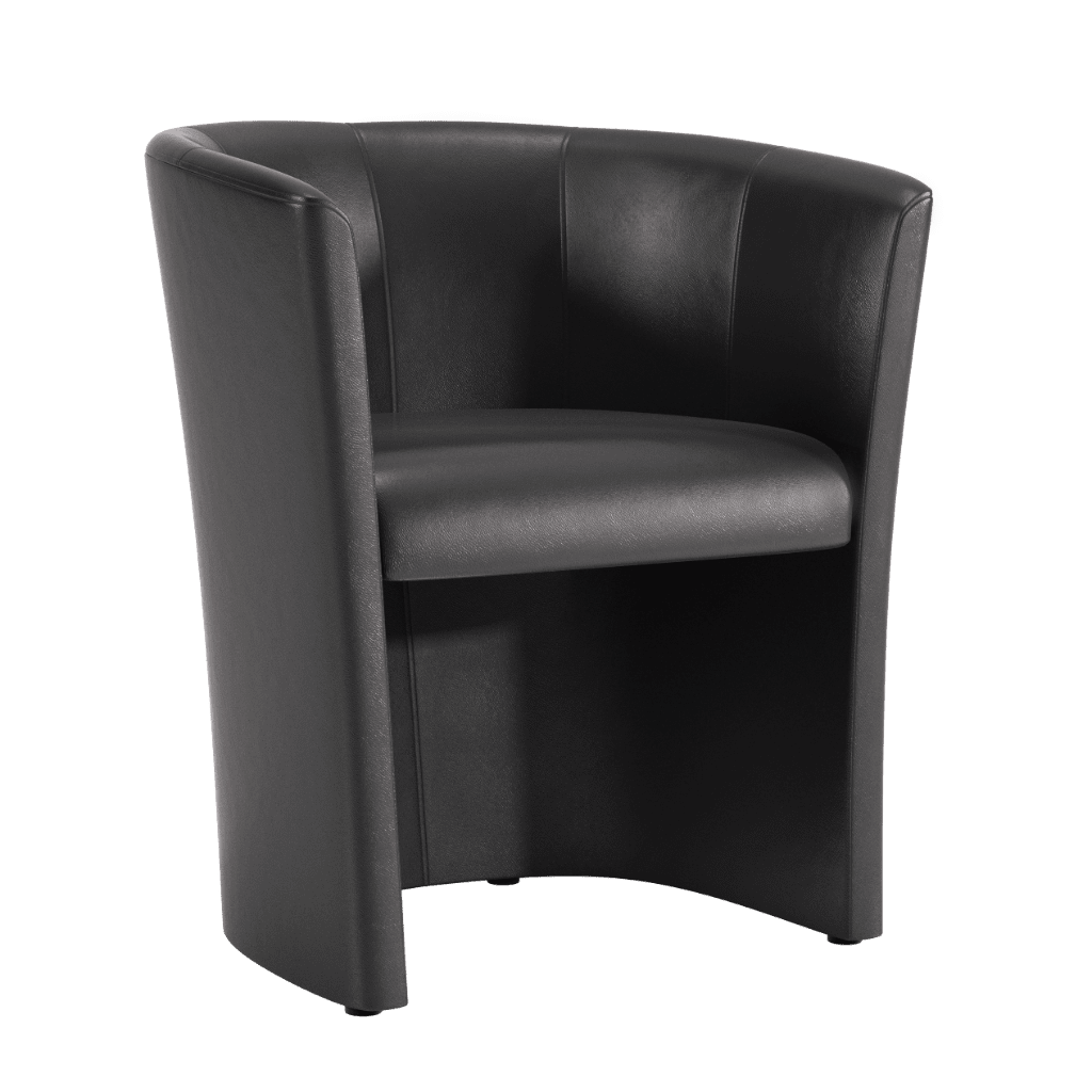 Chair Black Vinyl Tub Chair