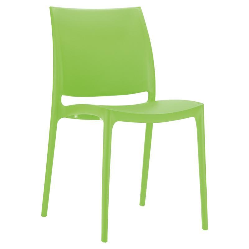 Chair Lime Green Ikon One Piece Poly Dining Chair