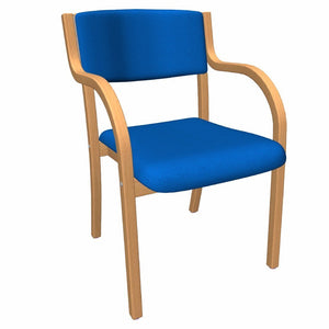 Chair With arms / Blue Napier chair