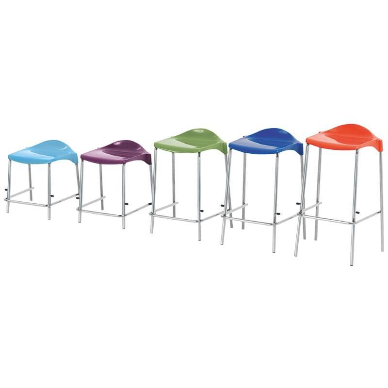 classroom stools Size 1 - Seat Height 395 mm Metalliform WSM 4-Leg Stool Size 1 - Seat Height 395 mm
