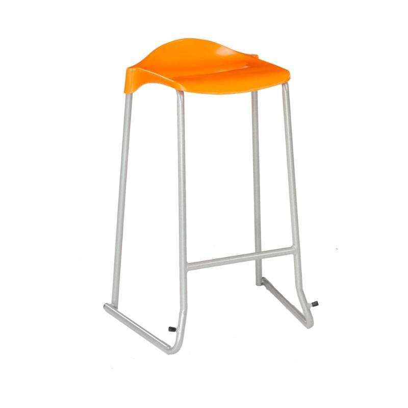 classroom stools Size 1 - Seat Height 395 mm Metalliform WSM Skid Base Stool Size 1 - Seat Height 395 mm