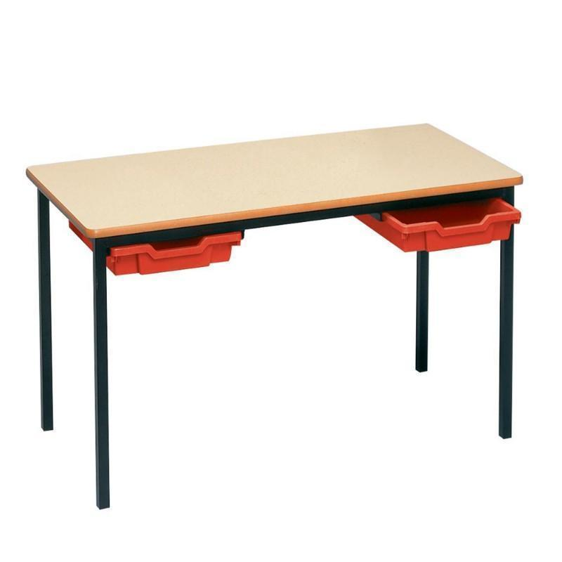 classroom tables 1100 x 550 mm / MDF Rectangular Welded Frame Tray Tables 1100 x 550 mm / MDF