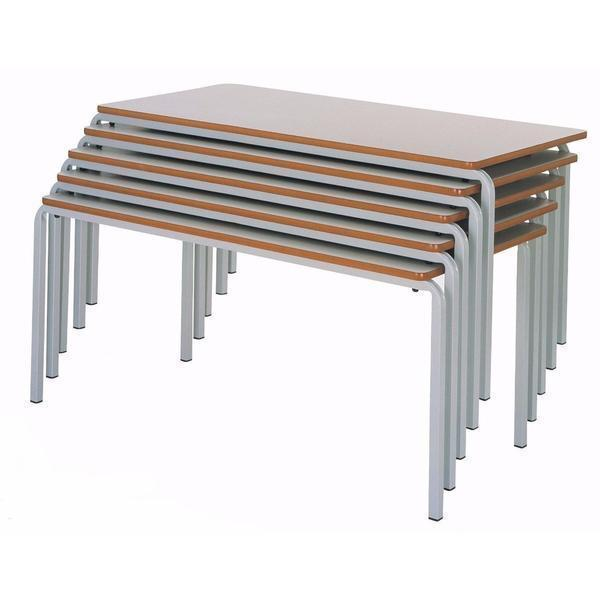 classroom tables 1100 x 550 mm / MDF Whiteboard Top Rectangular Crushbent Frame Classroom Tables 1100 x 550 mm / MDF