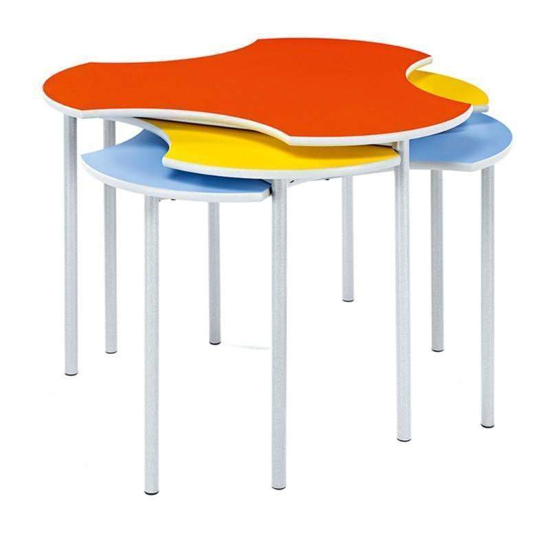 classroom tables Standard Height Adjustable Feet Creative Cluster Clover Tables Standard Height Adjustable Feet