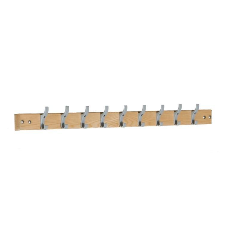 Cloakroom Storage 1200mm (9 coat hooks) Cloakroom Coat Rail 1200mm (9 coat hooks)