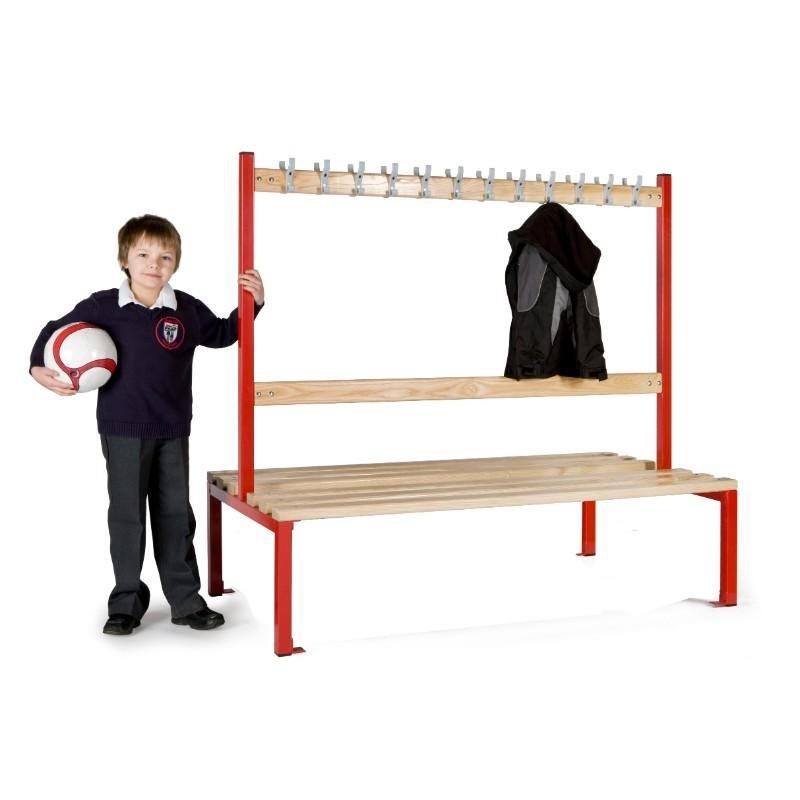 Cloakroom Storage 1500mm (24 coat hooks) / Without Shoe tray Cloakroom Island Seating Double Sided, Junior Height 1500mm (24 coat hooks) / Without Shoe tray