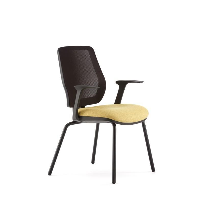 conference chair Black Plastic back surround / With Arms Echo Conference Chair Black Plastic back surround / With Arms