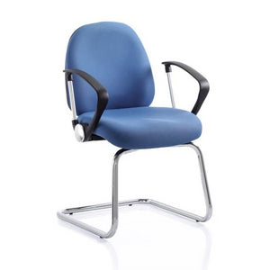 conference chair Chrome Disc Fixed Arms / Black Frame Ergotek Visitor Chair Chrome Disc Fixed Arms / Black Frame