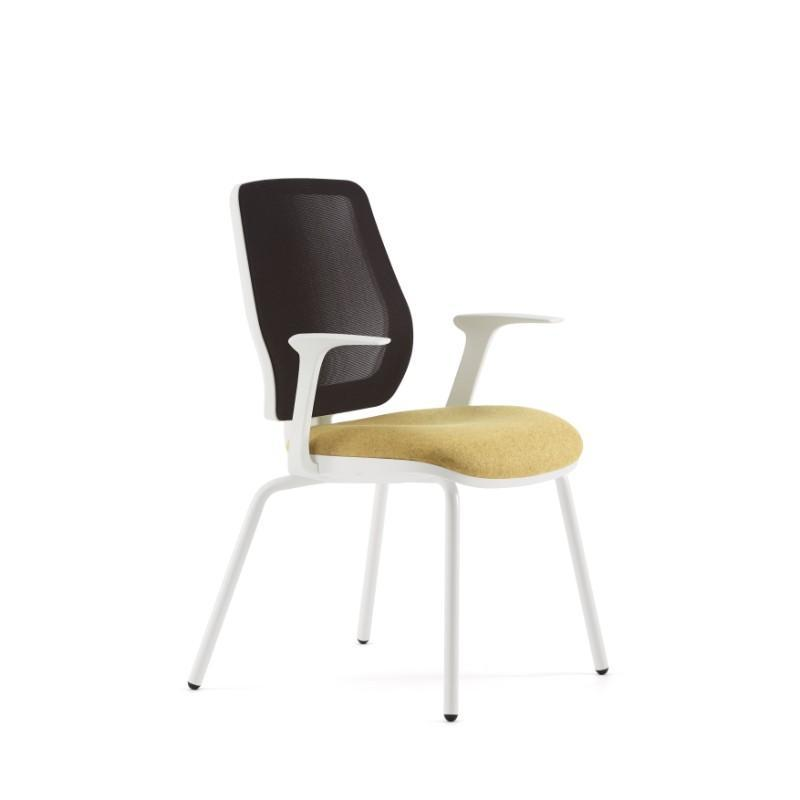 conference chair White Plastic back surround / With Arms Echo Conference Chair White Plastic back surround / With Arms