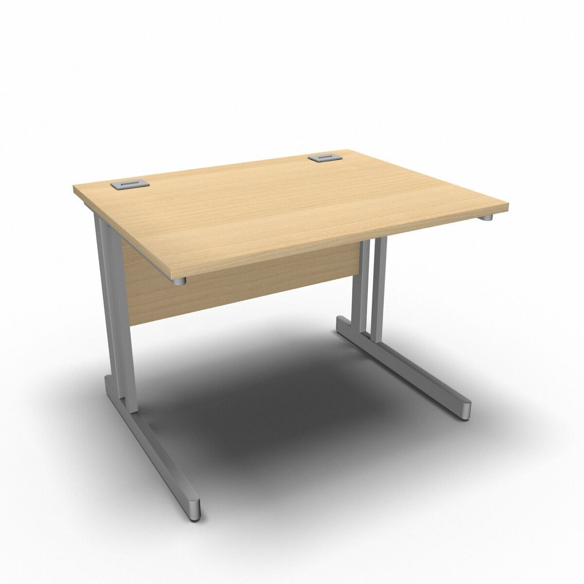 Desk 1000 x 800mm / Maple Synergy Straight Desks