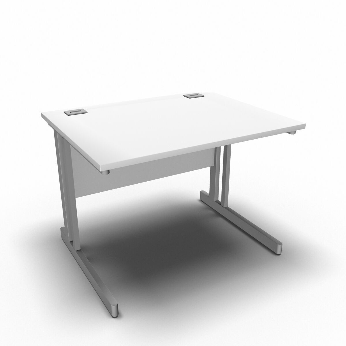 Desk 1000 x 800mm / White Synergy Straight Desks