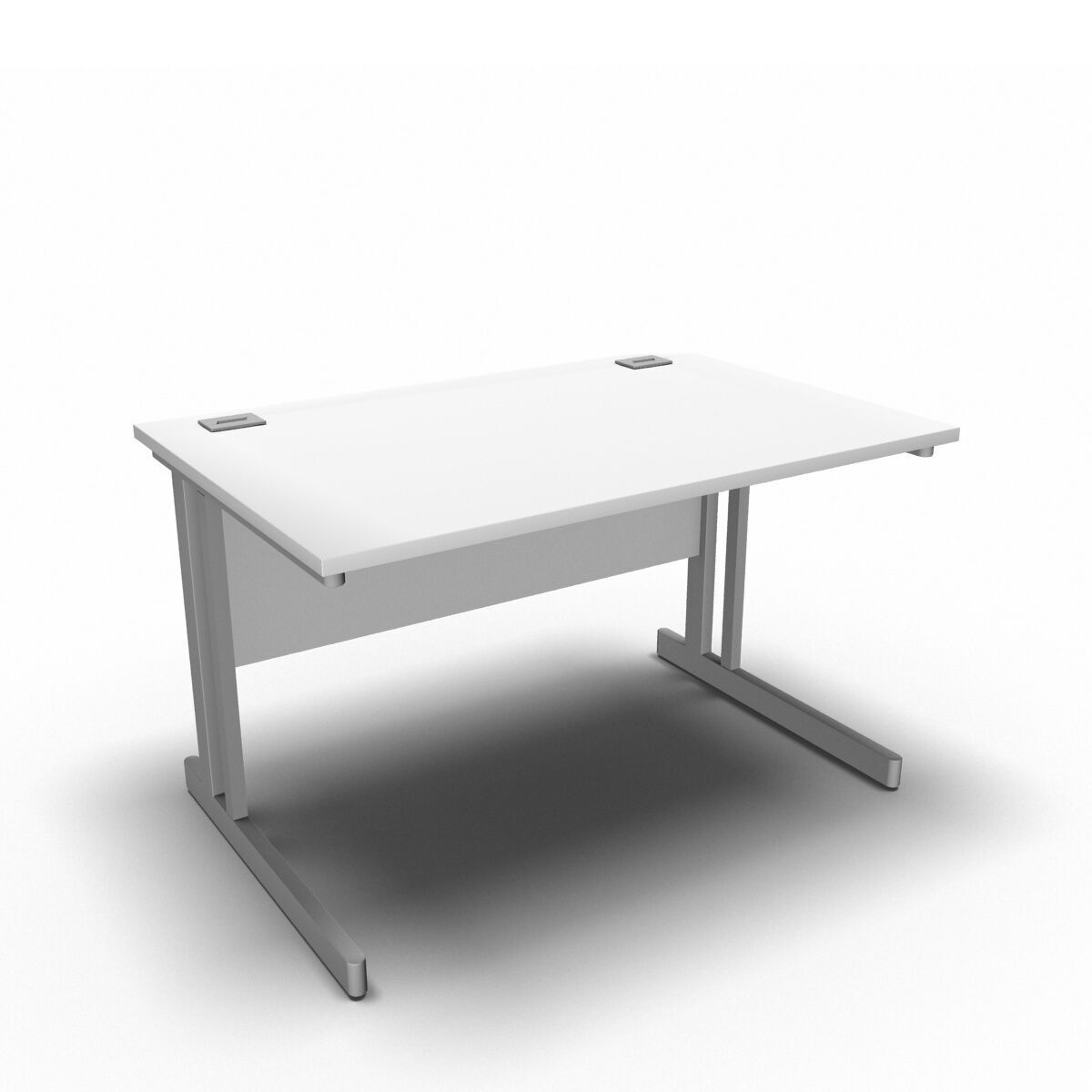 Desk 1200 x 800mm / White Synergy Straight Desks
