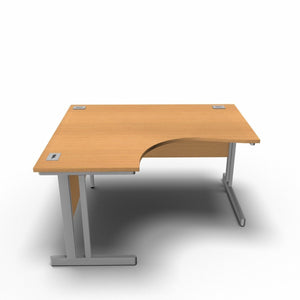 Desk 1400 x 1200 x 800 x 600mm / Left / Beech Synergy Crescent Desks