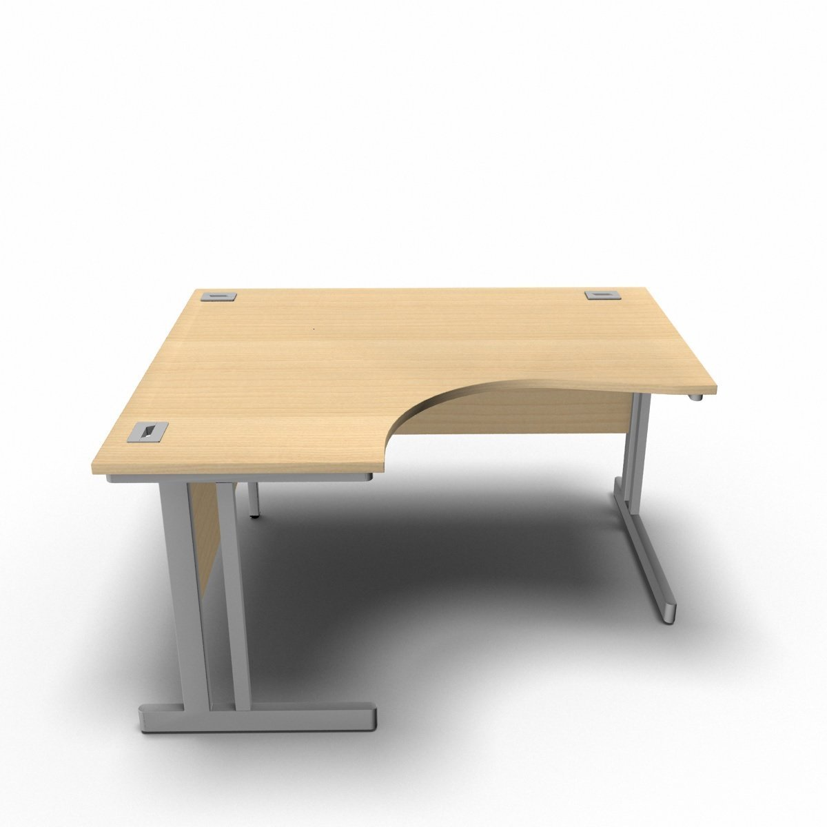 Desk 1400 x 1200 x 800 x 600mm / Left / Maple Synergy Crescent Desks