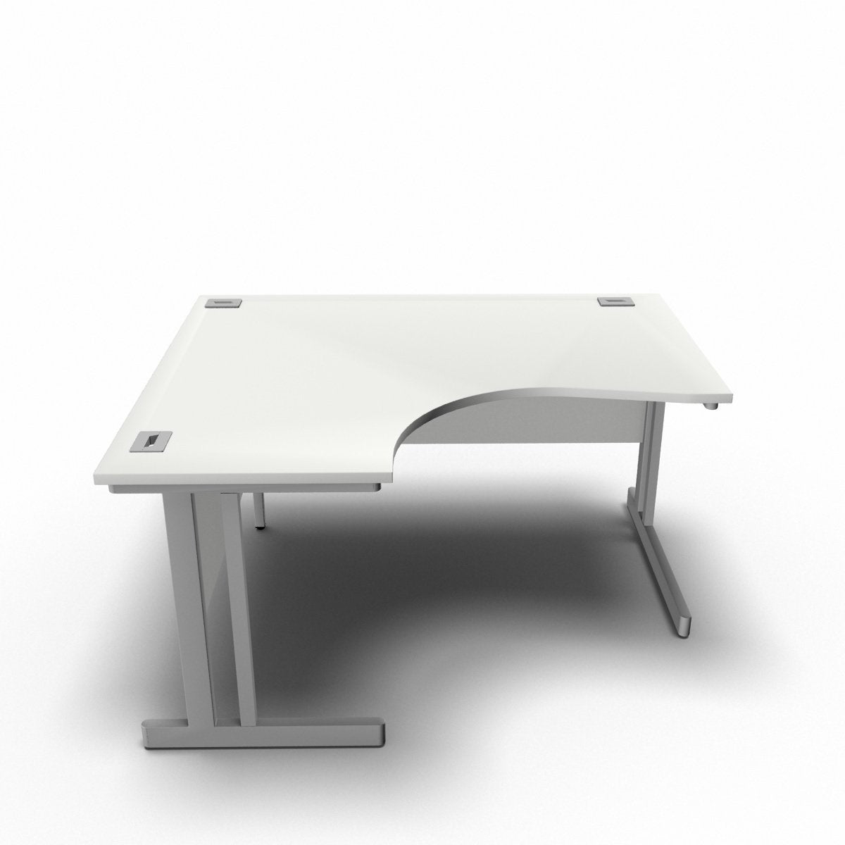 Desk 1400 x 1200 x 800 x 600mm / Left / White Synergy Crescent Desks