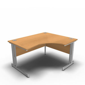 Desk 1400 x 1200 x 800 x 600mm / Right / Beech Synergy Crescent Desks