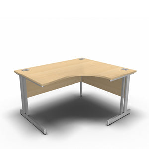 Desk 1400 x 1200 x 800 x 600mm / Right / Maple Synergy Crescent Desks