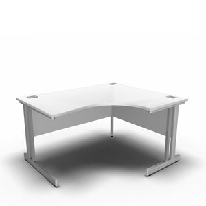 Desk 1400 x 1200 x 800 x 600mm / Right / White Synergy Crescent Desks