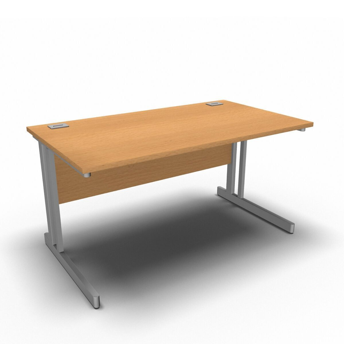 Desk 1400 x 800mm / Beech Synergy Straight Desks