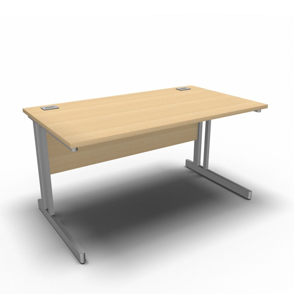Desk 1400 x 800mm / Maple Synergy Straight Desks
