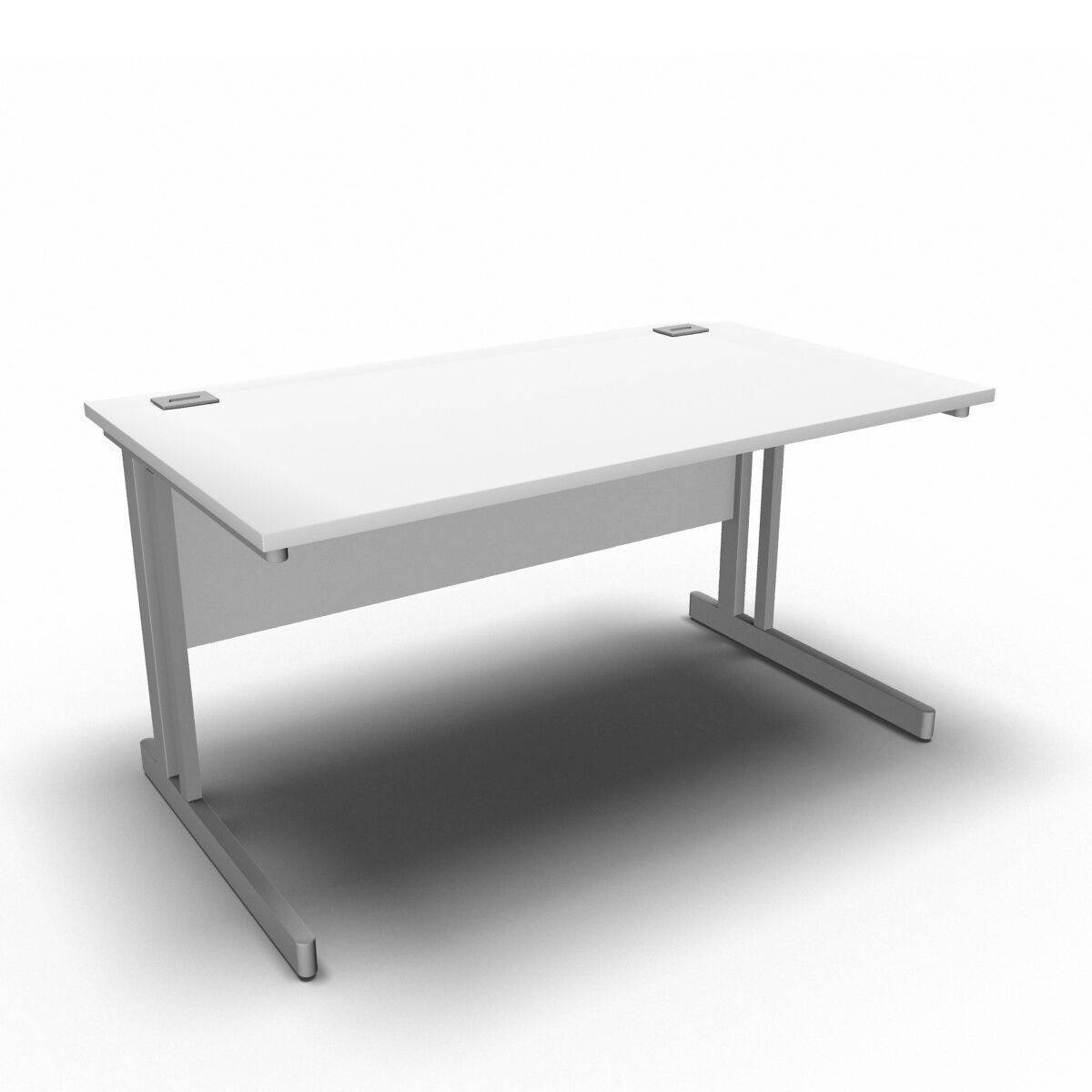 Desk 1400 x 800mm / White Synergy Straight Desks
