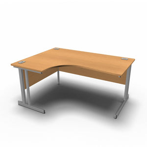 Desk 1600 x 1200 x 800 x 600mm / Left / Beech Synergy Crescent Desks
