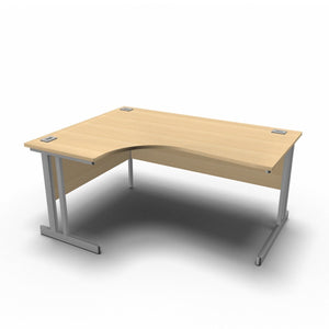 Desk 1600 x 1200 x 800 x 600mm / Left / Maple Synergy Crescent Desks