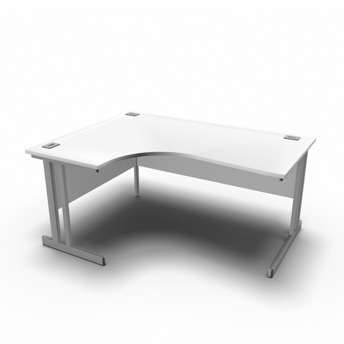 Desk 1600 x 1200 x 800 x 600mm / Left / White Synergy Crescent Desks
