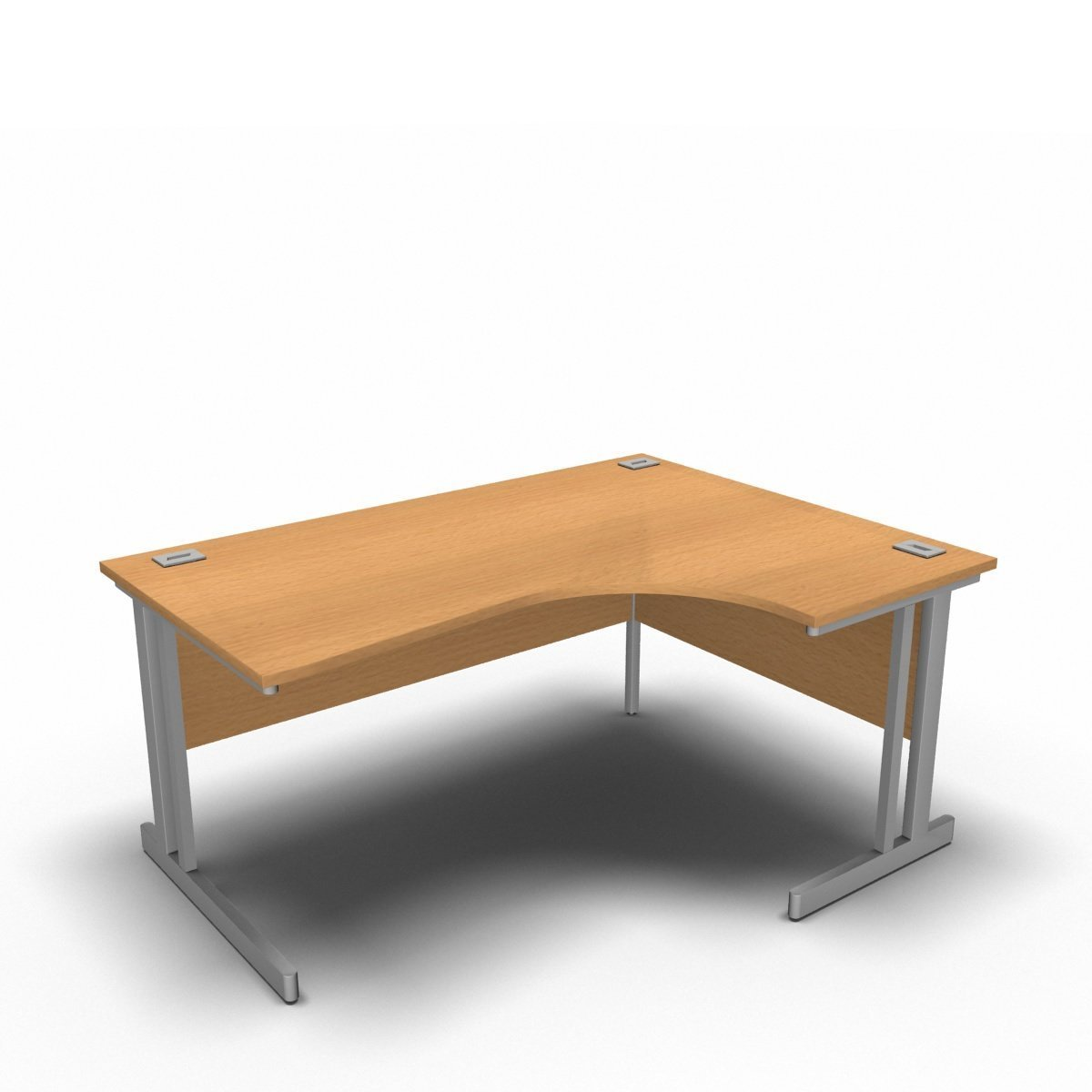 Desk 1600 x 1200 x 800 x 600mm / Right / Beech Synergy Crescent Desks