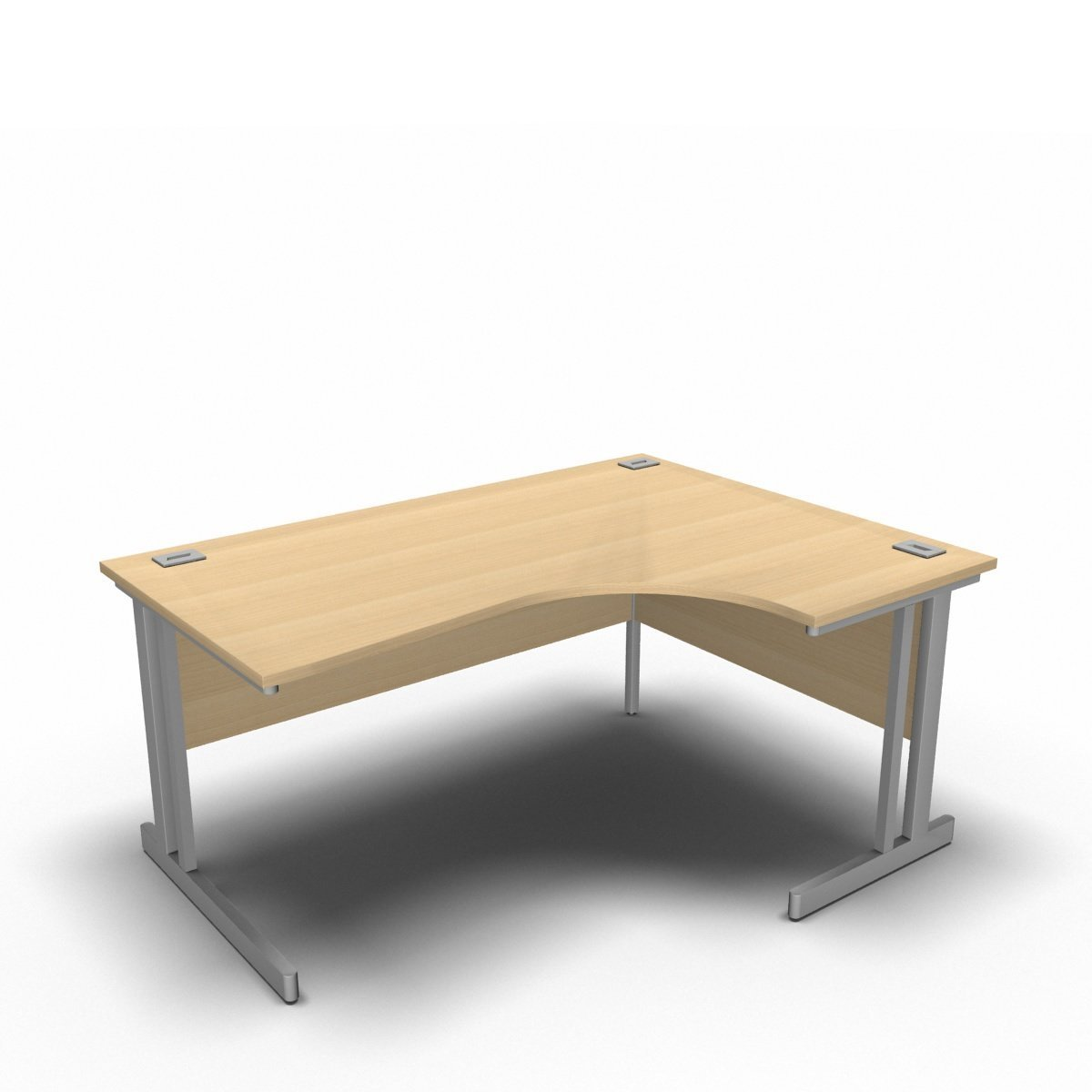 Desk 1600 x 1200 x 800 x 600mm / Right / Maple Synergy Crescent Desks