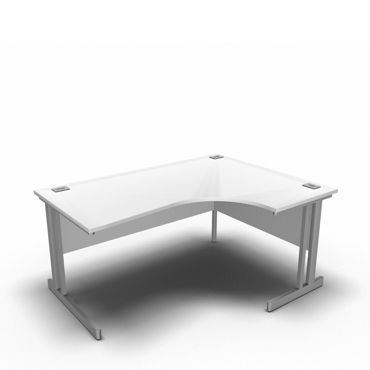 Desk 1600 x 1200 x 800 x 600mm / Right / White Synergy Crescent Desks