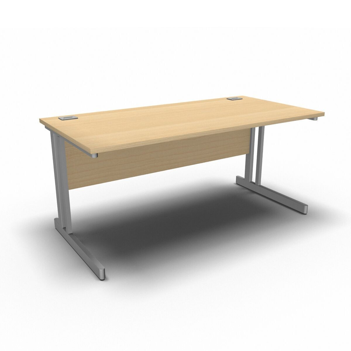 Desk 1600 x 800mm / Maple Synergy Straight Desks
