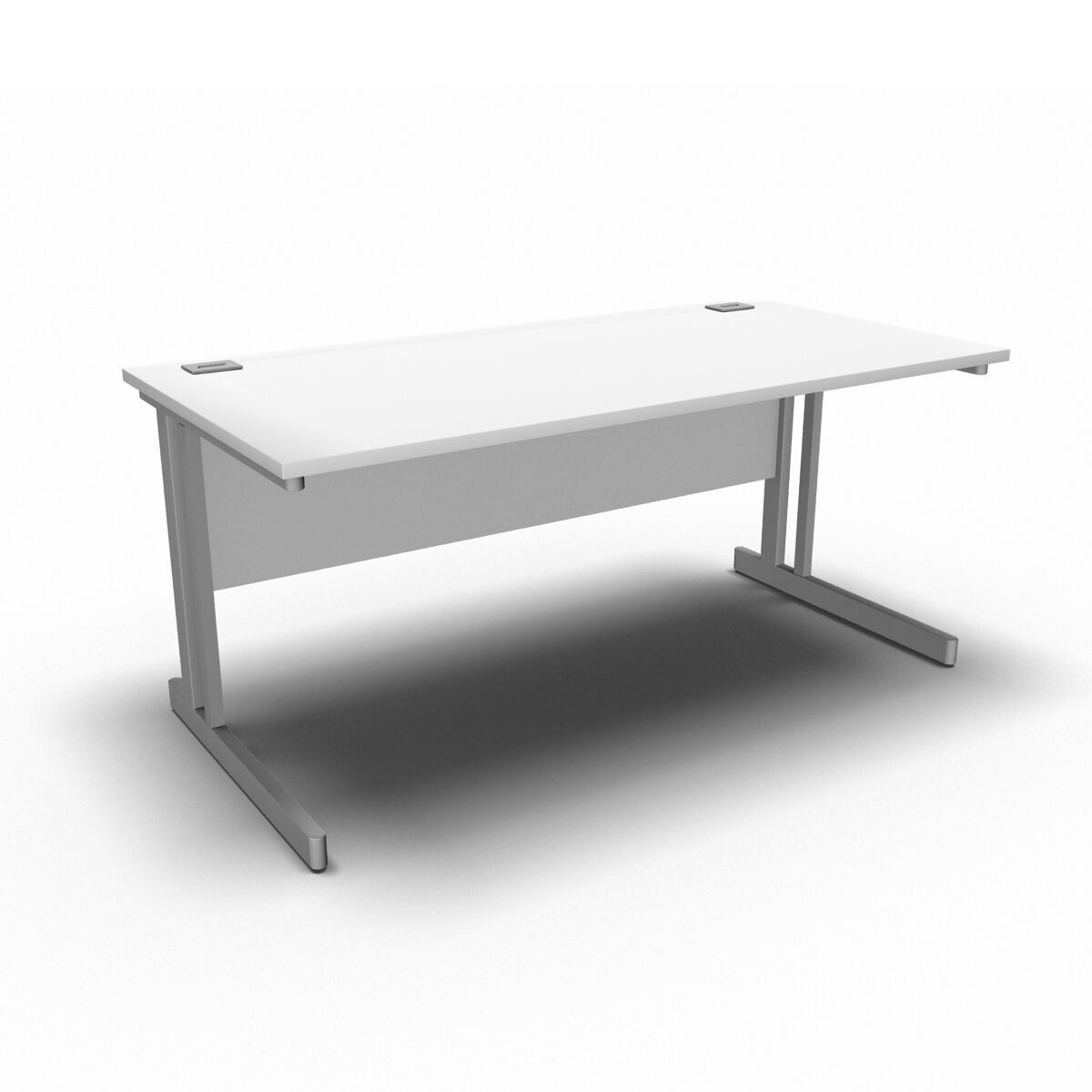 Desk 1600 x 800mm / White Synergy Straight Desks