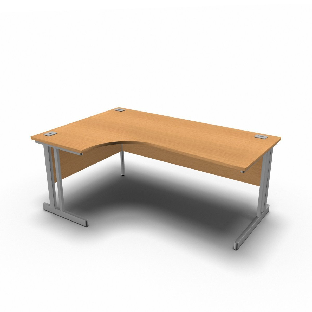 Desk 1800 x 1200 x 800 x 600mm / Left / Beech Synergy Crescent Desks